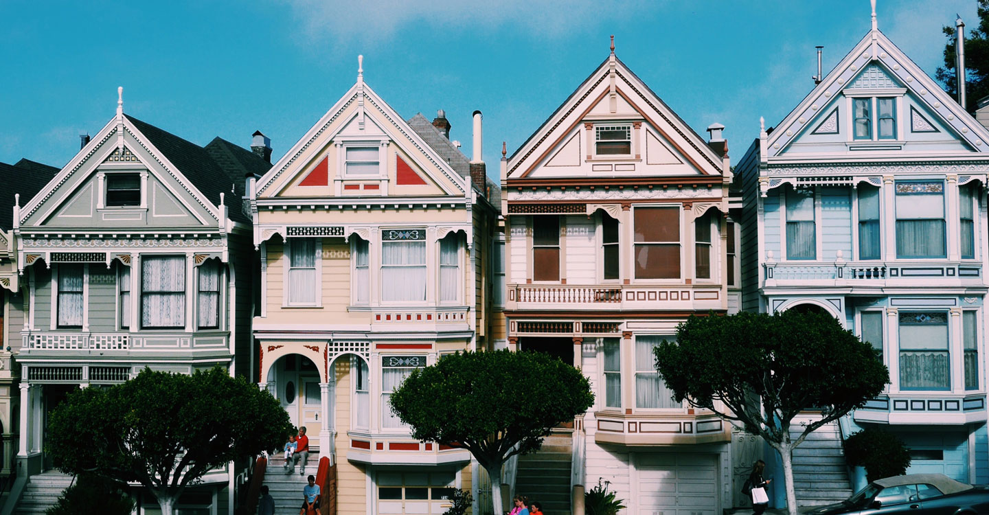 Row houses in San Francisco