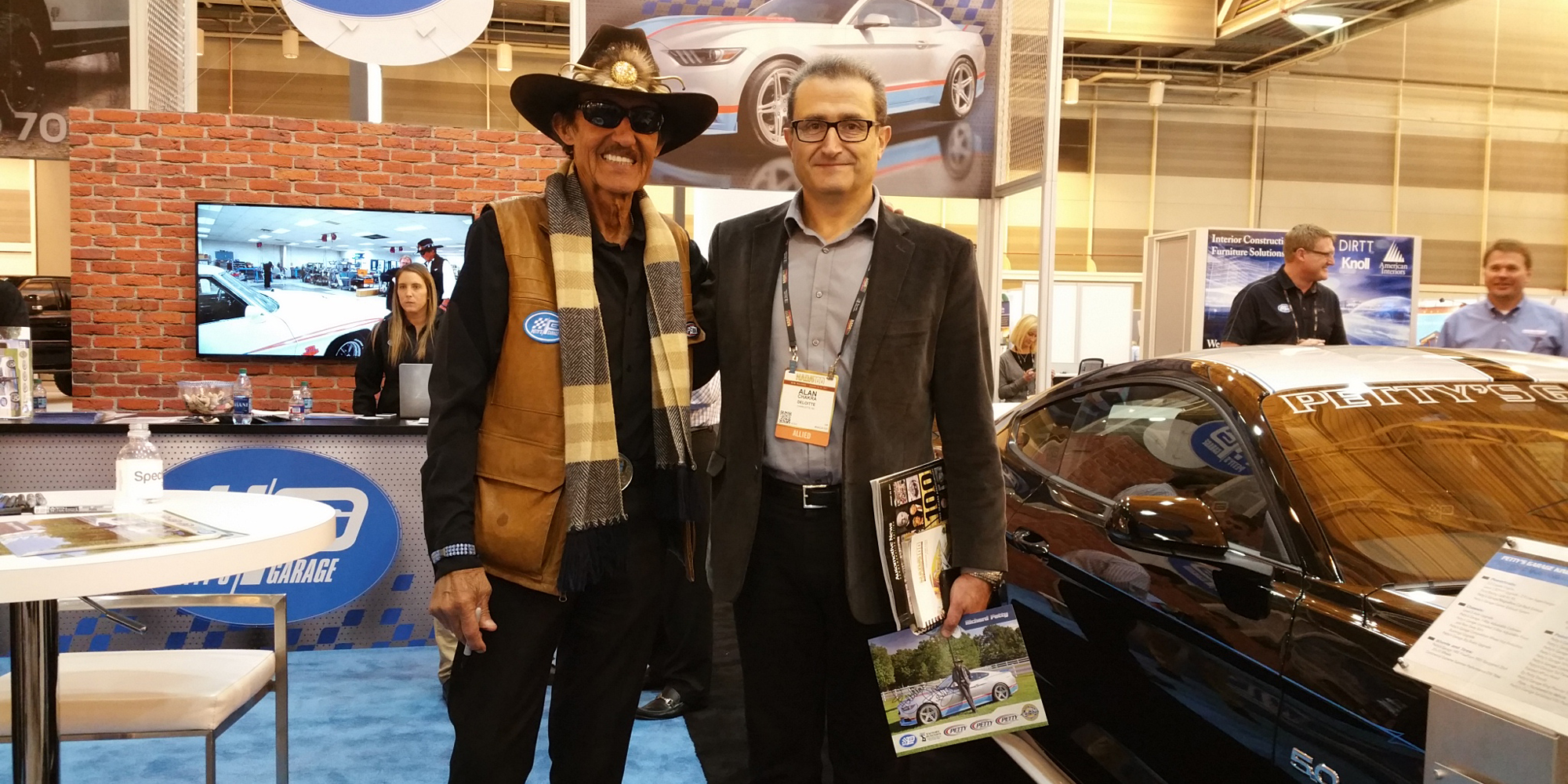 Alan Chakra with race car driver Richard Petty.