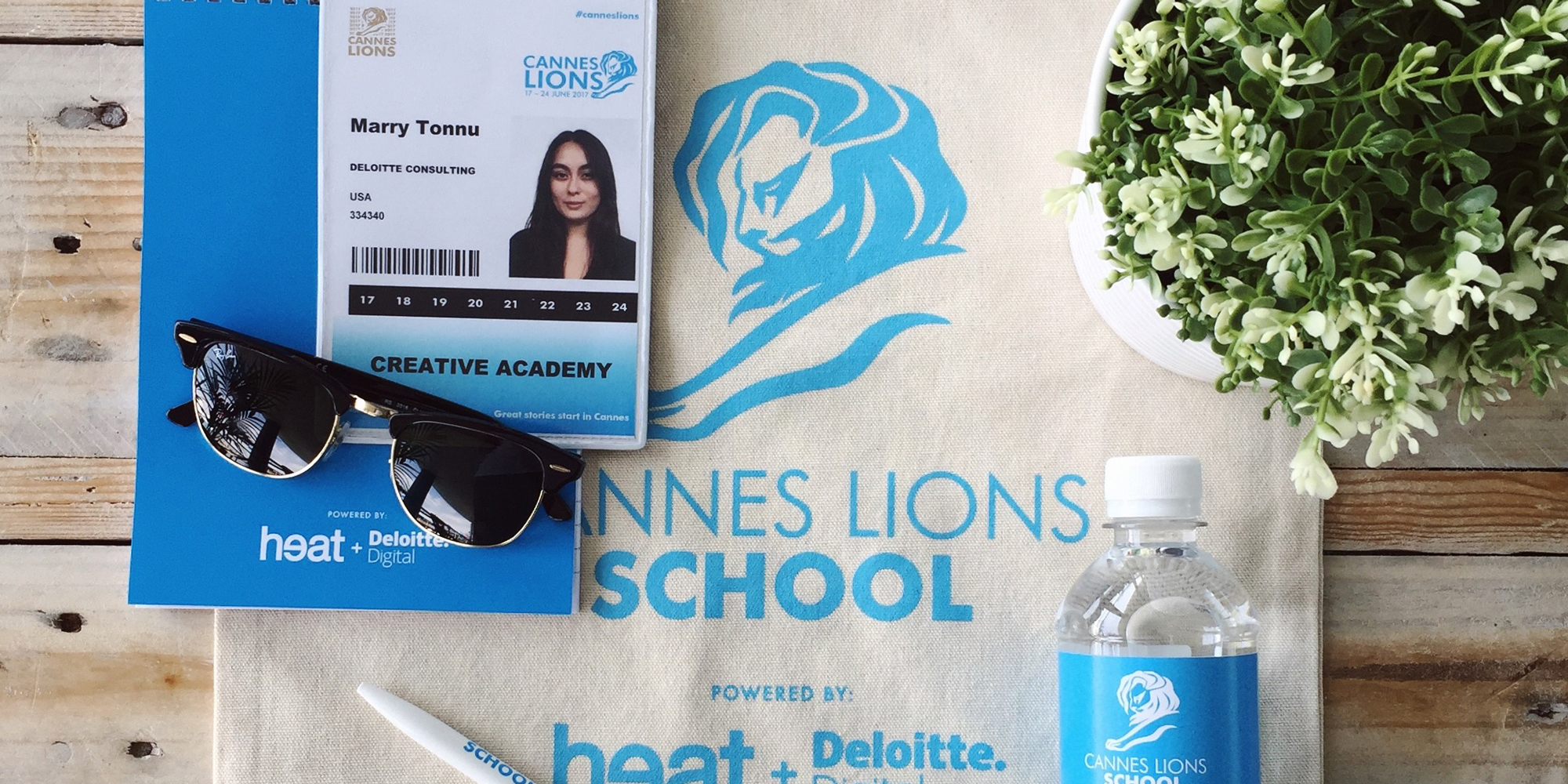 Image of swag obtained from the Young Lion school as well as Marry's ID and sunglasses