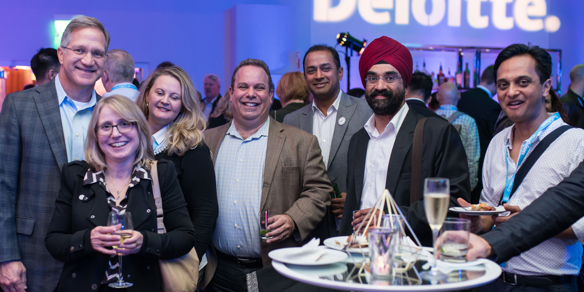 Group of Deloitte Digital colleagues at Dreamforce event.