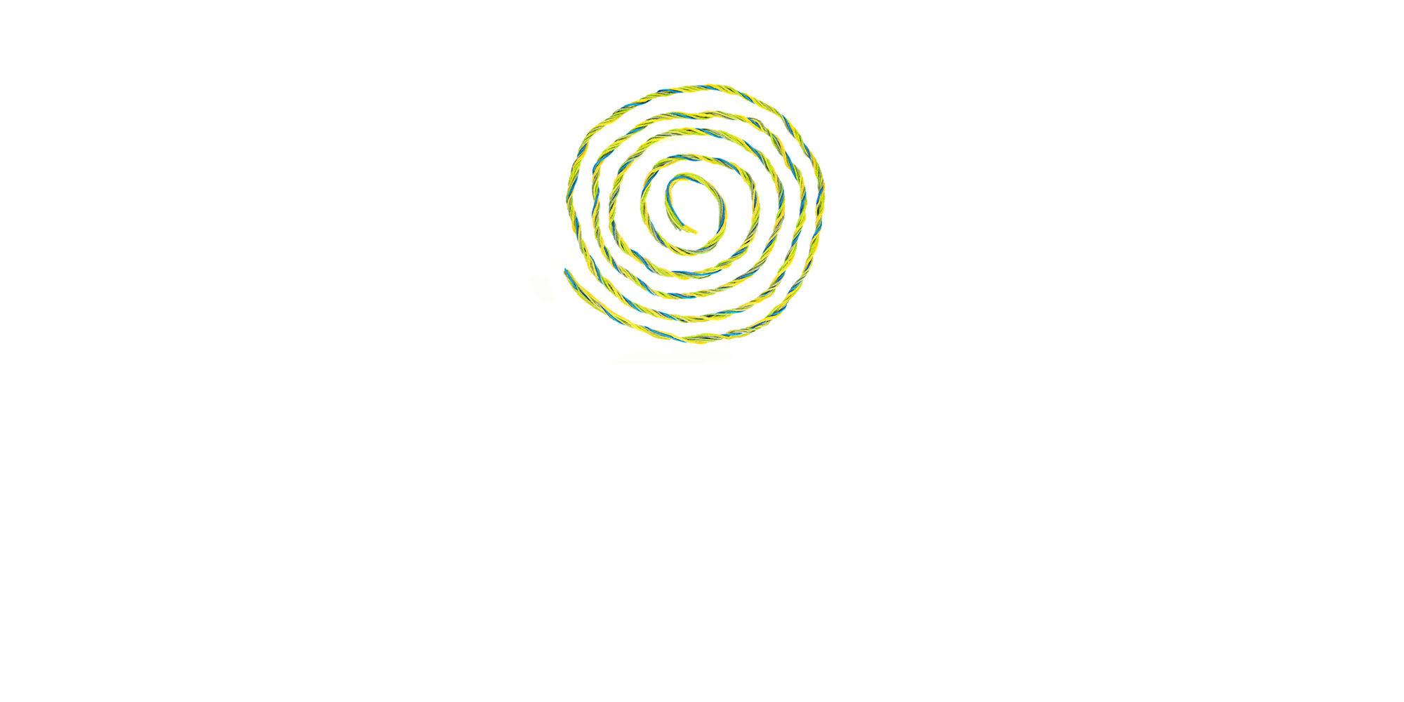 green swirl design on white background