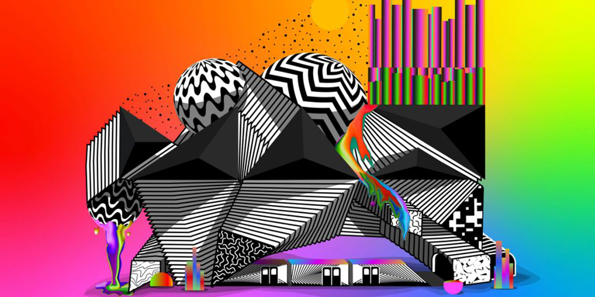 adobe max colorful graphic