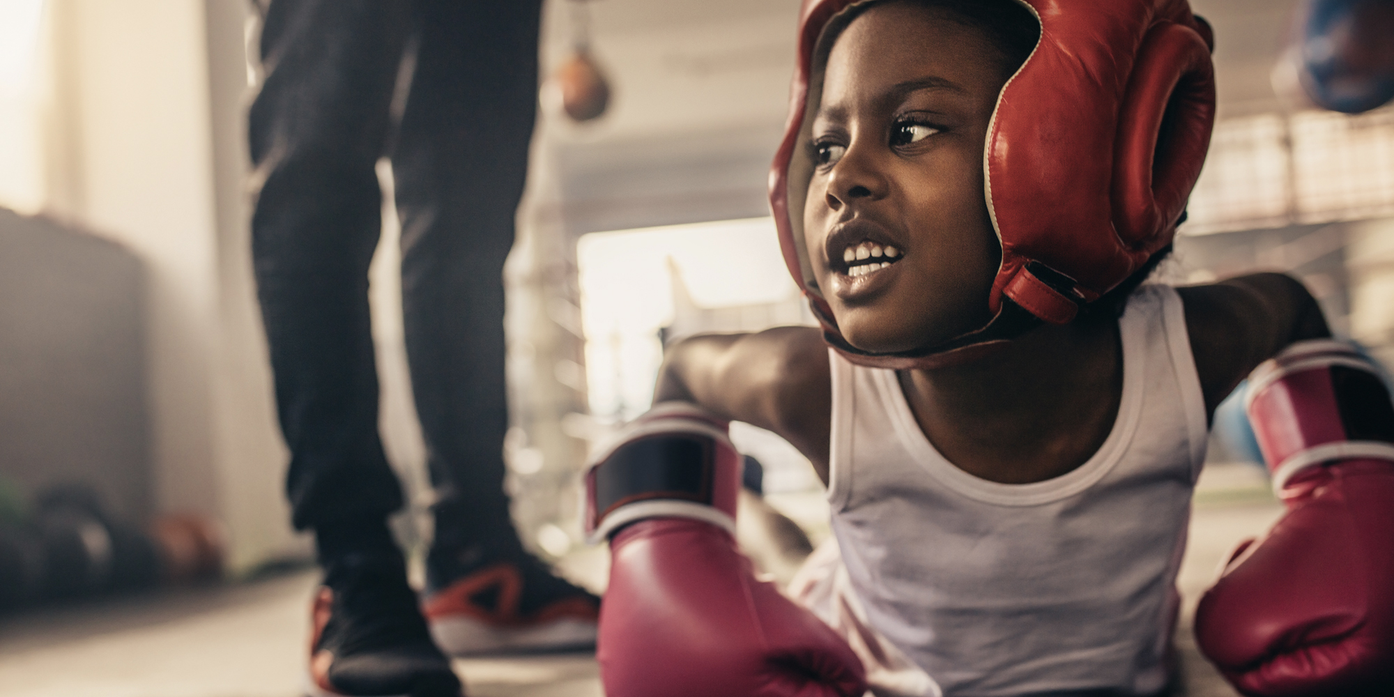 little kid boxing
