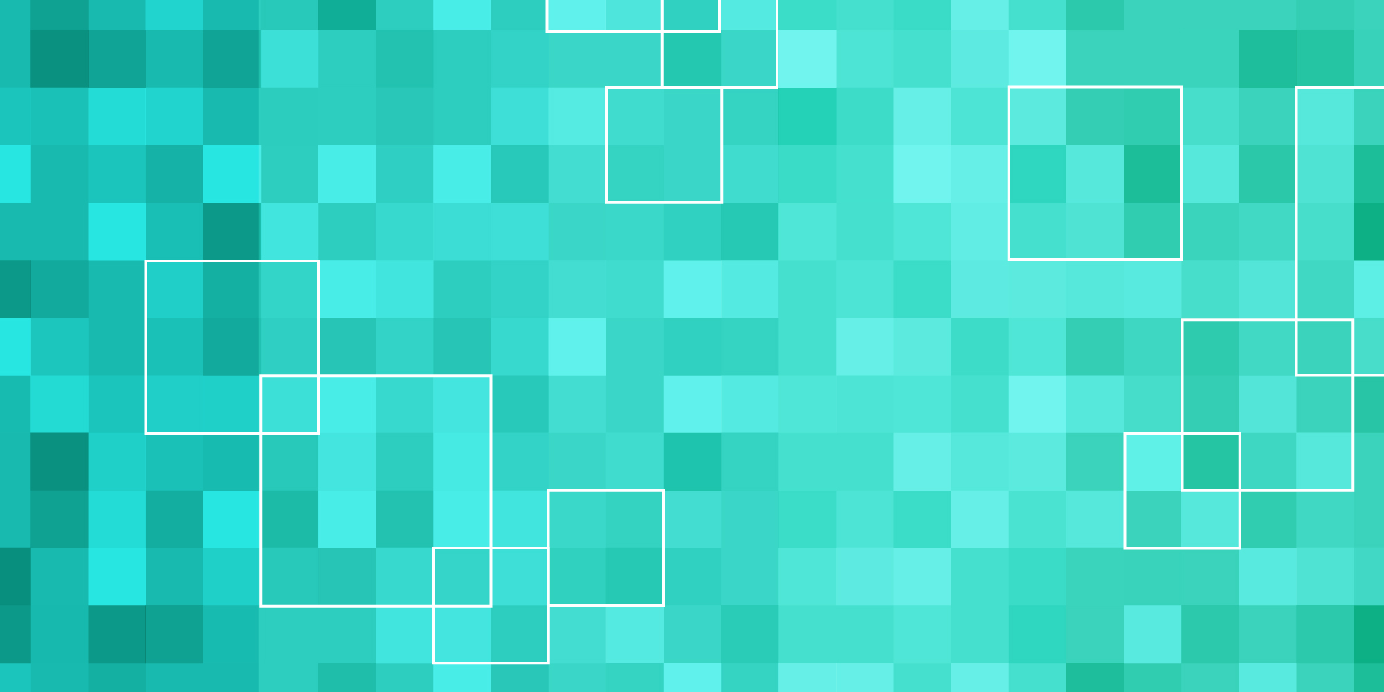 Green, teal, and blue gradient square pattern