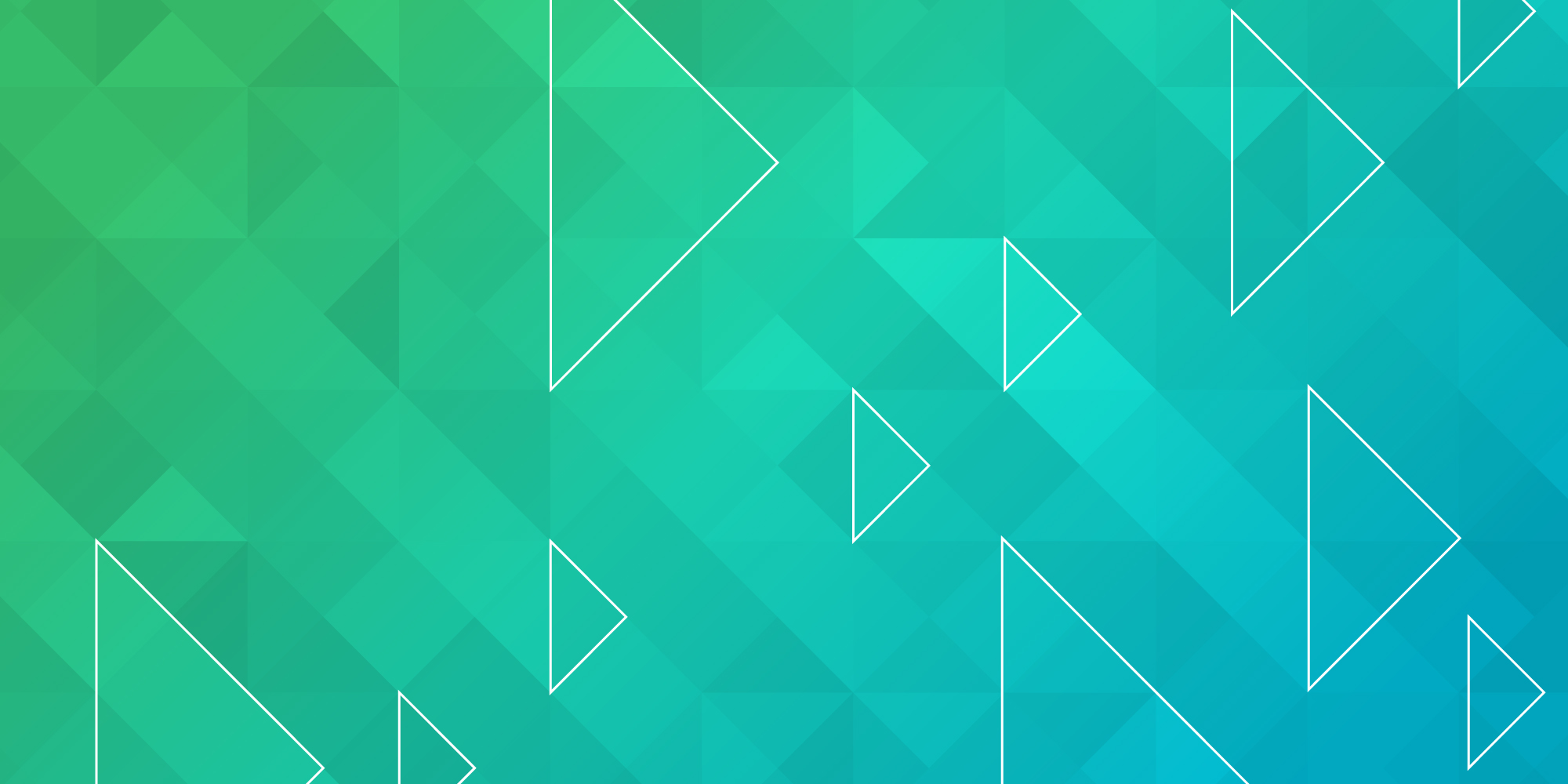 green, teal, and blue triangle pixel pattern