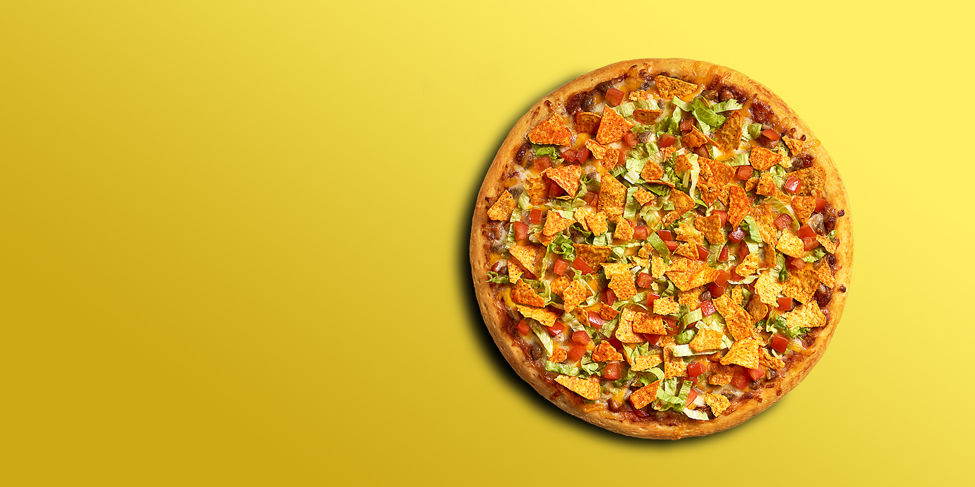 pizza image on yellow background