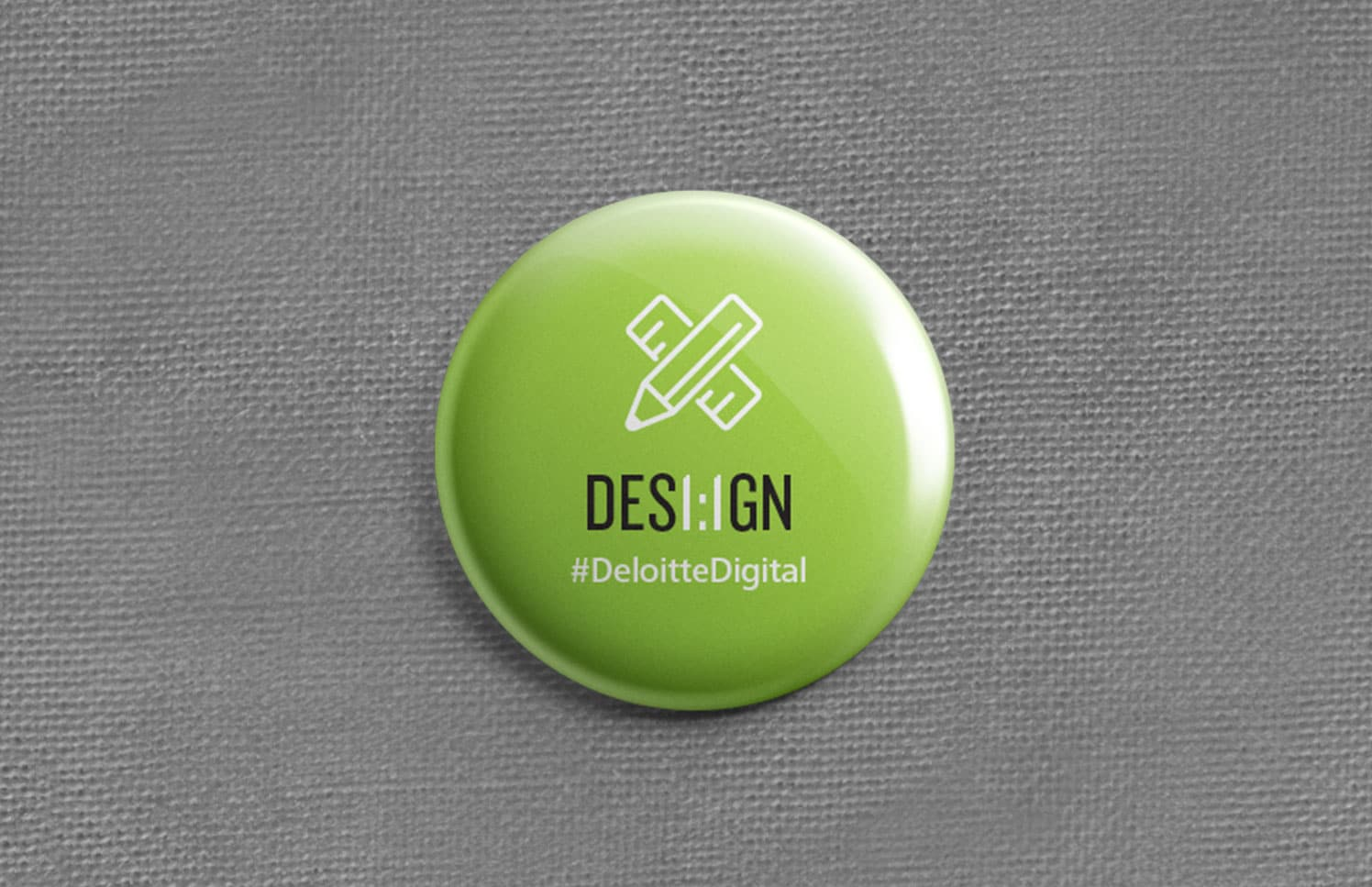 Photo of green dot design button