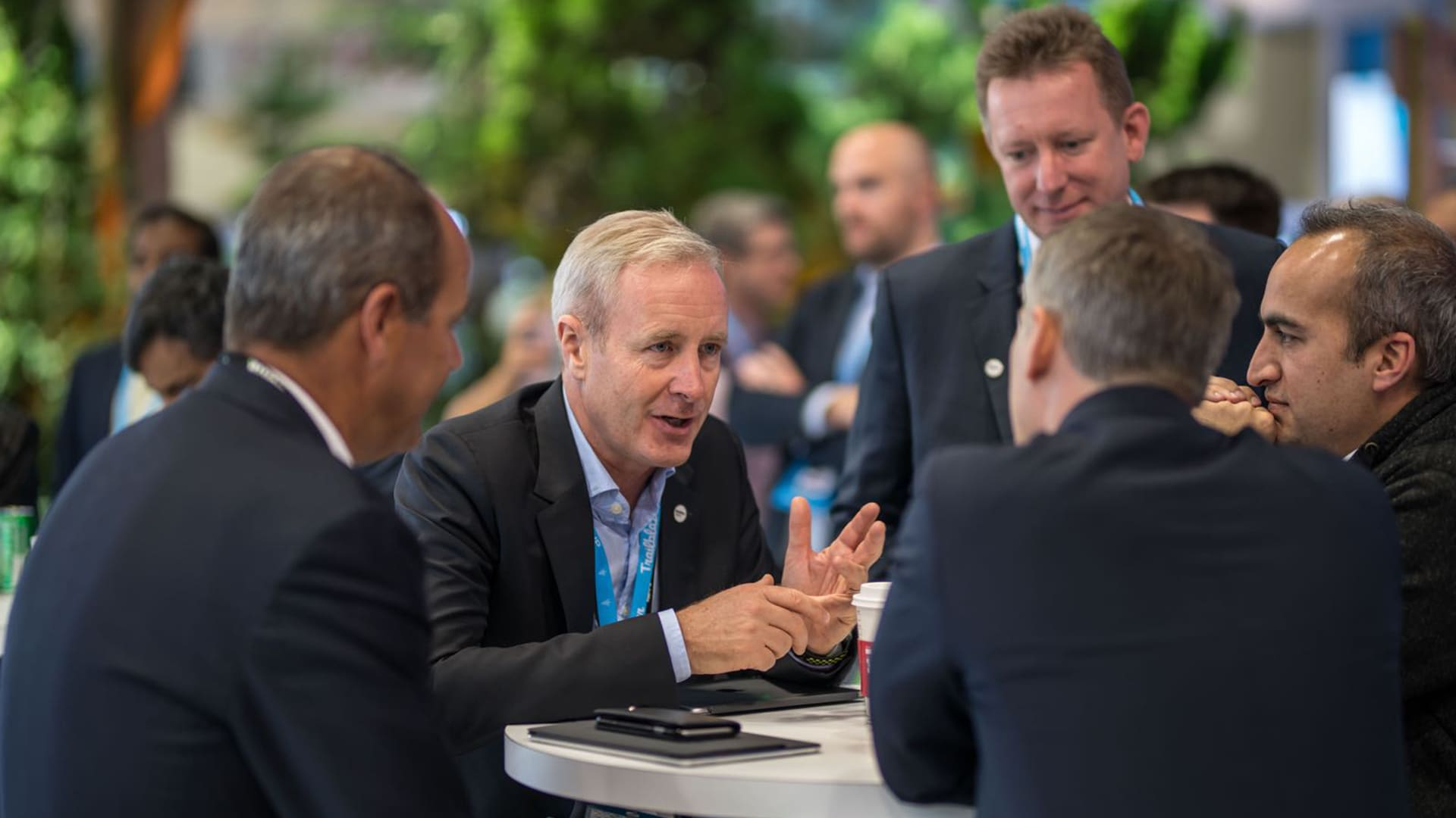 Men talking in a group at Dreamforce