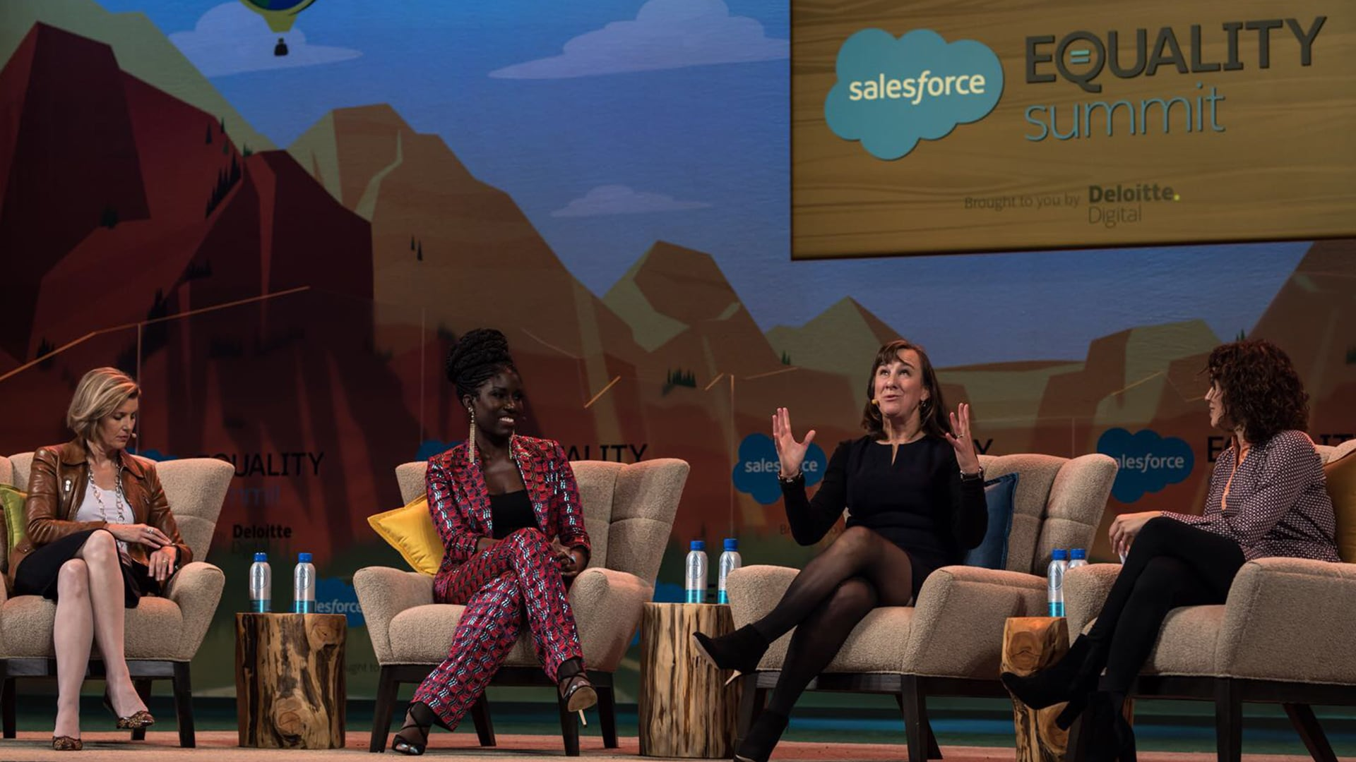 Equality summit panel at Dreamforce with Janet Foutty.
