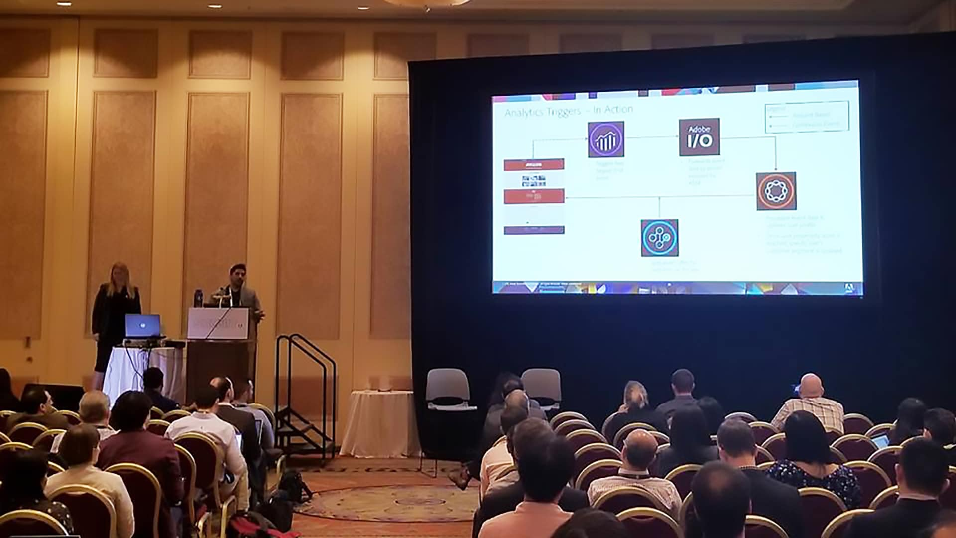 Runal Trivedi, specialist master, Deloitte Digital, joined Adobe's Carmen Sutter, senior product manger and Sarah Xu, developer evangelist, to talk about how to accelerate your mobile and web experiences using Adobe I/O