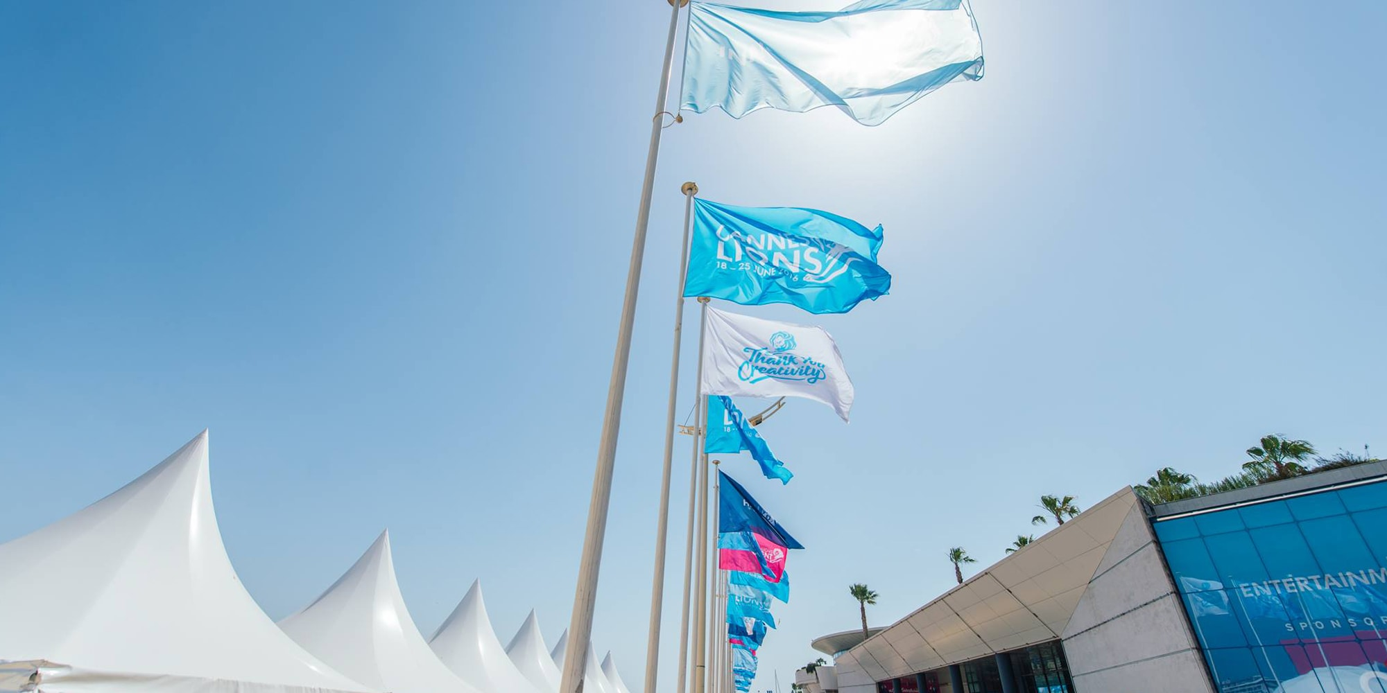 Flags over Cannes.